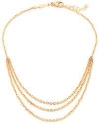 Jacquie Aiche - Triple Chain Gold Ankle Bracelet - Lyst