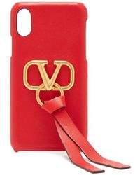 Valentino Garavani Vリング レザー Iphone X ケース - マルチカラー