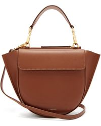 Wandler Hortensia Mini Leather Cross-body Bag - Brown