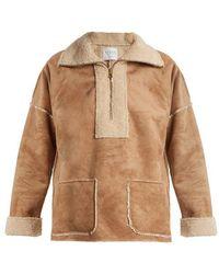 Velvet By Graham & Spencer - Rika Faux Fur-trimmed Faux-suede Jacket - Lyst
