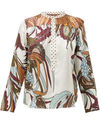 La Prestic Ouiston Romee Floral-print Silk-twill Shirt - Multicolor