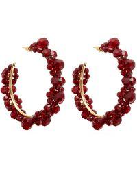 Simone Rocha Large Crystal-daisy Hoop Earrings - Multicolour
