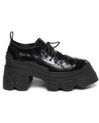 Simone Rocha Chunky-sole Leather Derby Shoes - Black