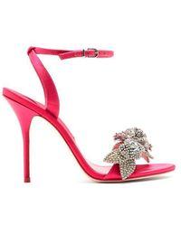 Sophia Webster - Lilico Crystal-embellished Satin Sandals - Lyst
