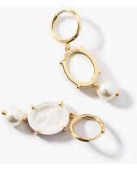 Simone Rocha Cameo & Faux-pearl Earrings - White
