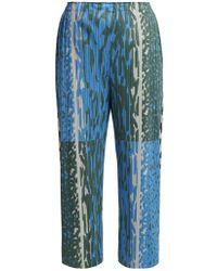 Pleats Please Issey Miyake - Animal-print Pleated Trousers - Lyst