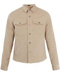 ATM - Button-down Cotton-blend Corduroy Overshirt - Lyst