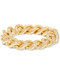 Bottega Veneta Bracelet chaîne à ornements cristaux - Métallisé