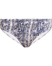 8578dd448da3e5 Calvin Klein Python Print Triangle Bikini Top in Black - Lyst