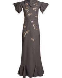 Attico   Isabel Embroidered Dress   Lyst