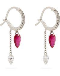 Raphaele Canot   Set Free Diamond, Ruby & White-gold Earrings   Lyst