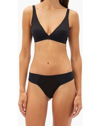 Rossell England Angled Cotton-jersey Thong - Black