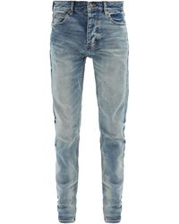 Ksubi Chitch Distressed Slim-leg Jeans - Blue