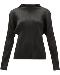 Pleats Please Issey Miyake Monthly Colours Tech-pleated Top - Black