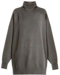 Raey - Split-side Roll-neck Cashmere Sweater - Lyst