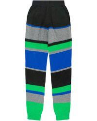 The Elder Statesman Kirkwood Striped Cashmere Track Trousers - Green