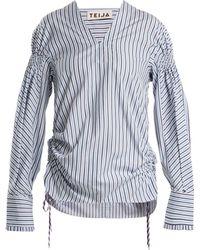 Teija - Striped Cotton Poplin Blouse - Lyst