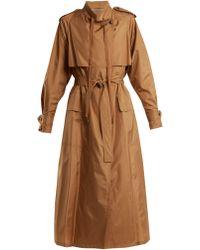 Bottega Veneta - Tie-waist Silk-blend Taffeta Trench Coat - Lyst