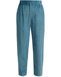 Isabel Marant - Meloy High Waisted Corduroy Trousers - Lyst