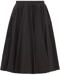 Emilia Wickstead リリー ギャザー コットンツイルスカート - ブラック
