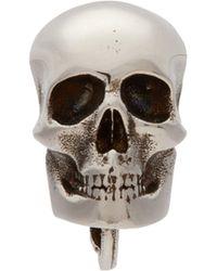 Alexander McQueen - Single Skull Earring - Lyst