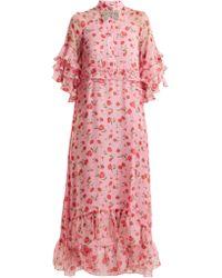 Dodo Bar Or - Robe en mousseline à imprimé floral Rossano - Lyst