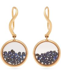 Aurelie Bidermann Chivor Sapphire & 18kt Gold Earrings - Metallic