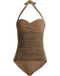 Heidi Klein | Body Ruched Bandeau Swimsuit | Lyst