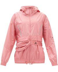adidas By Stella McCartney Hooded Belt-bag Shell Windbreaker - Pink