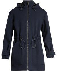 Raey | Zip-through Wool Duffle Coat | Lyst