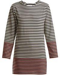 MYAR - Striped Cotton Jersey T Shirt - Lyst