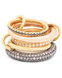 Spinelli Kilcollin - Nexus Diamond, Silver & Gold Ring - Lyst