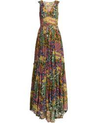 Missoni Robe en soie à imprimé floral - Multicolore