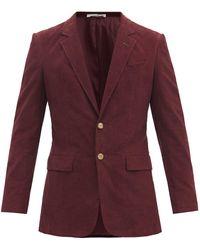 Gabriela Hearst Irving Single-breasted Cotton-corduroy Jacket - Purple