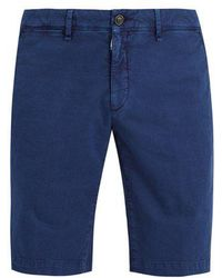 Moncler - Cotton Gabardine Shorts - Lyst