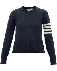 Thom Browne 4bar ウールセーター - ブルー