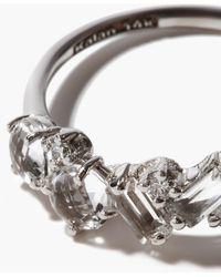 Suzanne Kalan ダイヤモンド&トパーズ 14kホワイトゴールドリング - メタリック