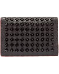 Christian Louboutin Spike-embellished Grained-leather Cardholder - Multicolour