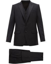 Dolce & Gabbana Costume en laine mélangée coupe Martini - Noir