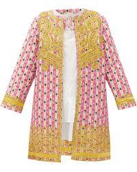 Muzungu Sisters Ankita Botanical-print Organic-cotton Jacket - Pink