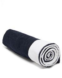 Frette Lido Cotton Beach Towel - Blue