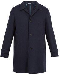 Boglioli - Point-collar Basket-weave Wool-blend Overcoat - Lyst