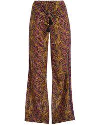 Figue Estela Paisley Print Cotton Blend Pants - Multicolor