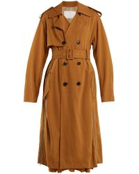 Toga - Double Breasted Side Zip Trench Coat - Lyst