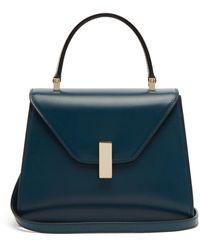 Valextra Iside Mini Leather Bag - Blue