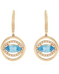 Susan Foster - Diamond, Topaz & Yellow-gold Earrings - Lyst