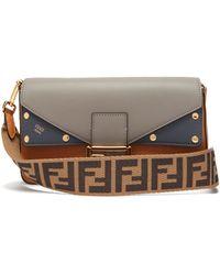 Fendi - Baguette Tri Colour Leather Bag - Lyst