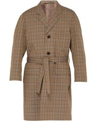 Lemaire Chesterfield Checked Cotton-blend Coat - Natural
