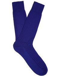 Pantherella - Danvers Ribbed-knit Socks - Lyst
