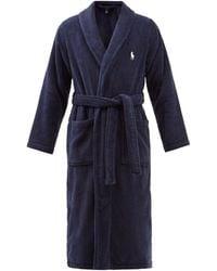 Polo Ralph Lauren コットンテリー バスローブ - ブルー